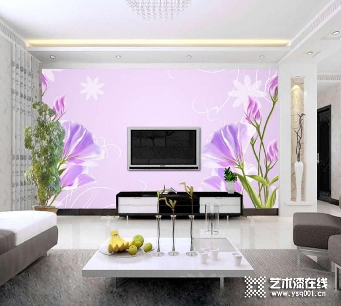 爱满屋艺术漆梦幻花卉系列产品效果图