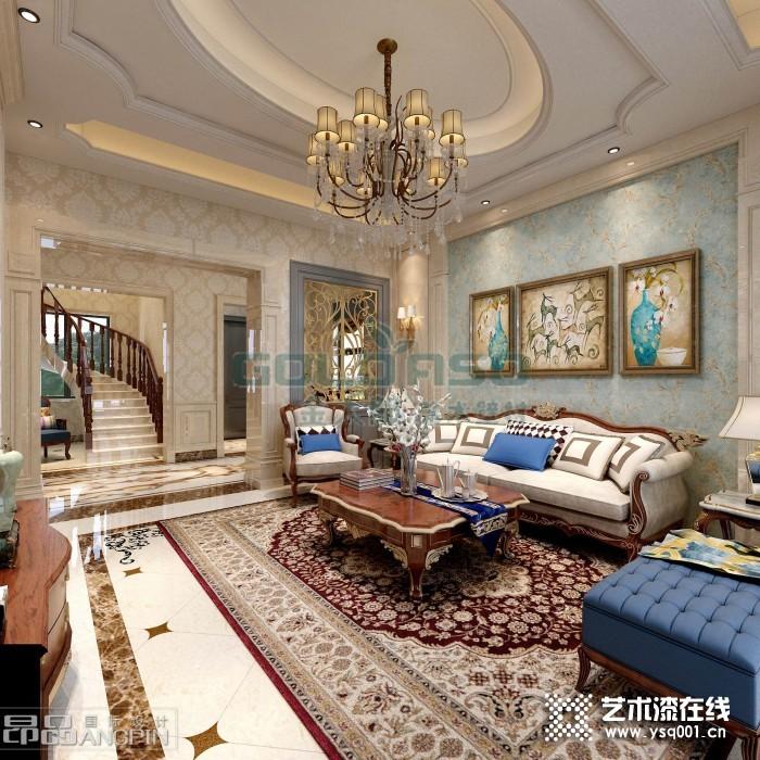 金太郎艺术漆客厅装修效果图