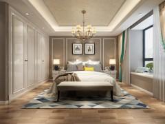 比美特艺术涂料现代风卧室装修效果图