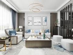 英尼斯特艺术涂料新中式风装修图,新中式卧室效果图