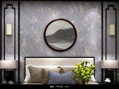 菲玛艺术涂料卧室背景墙装修效果图