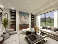 珐蓝邸艺术涂料背景墙效果图,卧室背景墙装修图