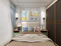 易涂得艺术涂料卧室装修效果图,背景墙装修图