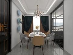 基路伯艺术涂料118M²现代简约美宅装修图