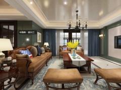 卡百利艺术涂料美式客厅装修图