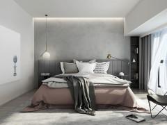 卡拉瓦乔艺术漆卧室装修效果图,现代简约装修图