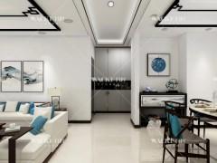 瓦科艺术涂料客厅图片,新中式风格客厅装修效果图