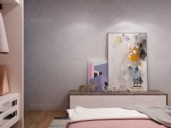 瓦科艺术涂料北欧风格卧室定制效果图