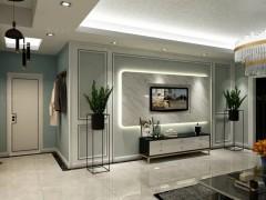 瓦科艺术涂料133㎡现代风四居室装修效果图