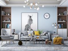 欧萨卡艺术涂料沙发背景墙效果图,好看又时尚